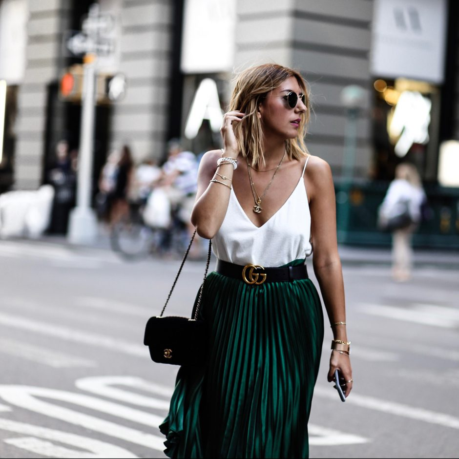 white, green & black – NYFW
