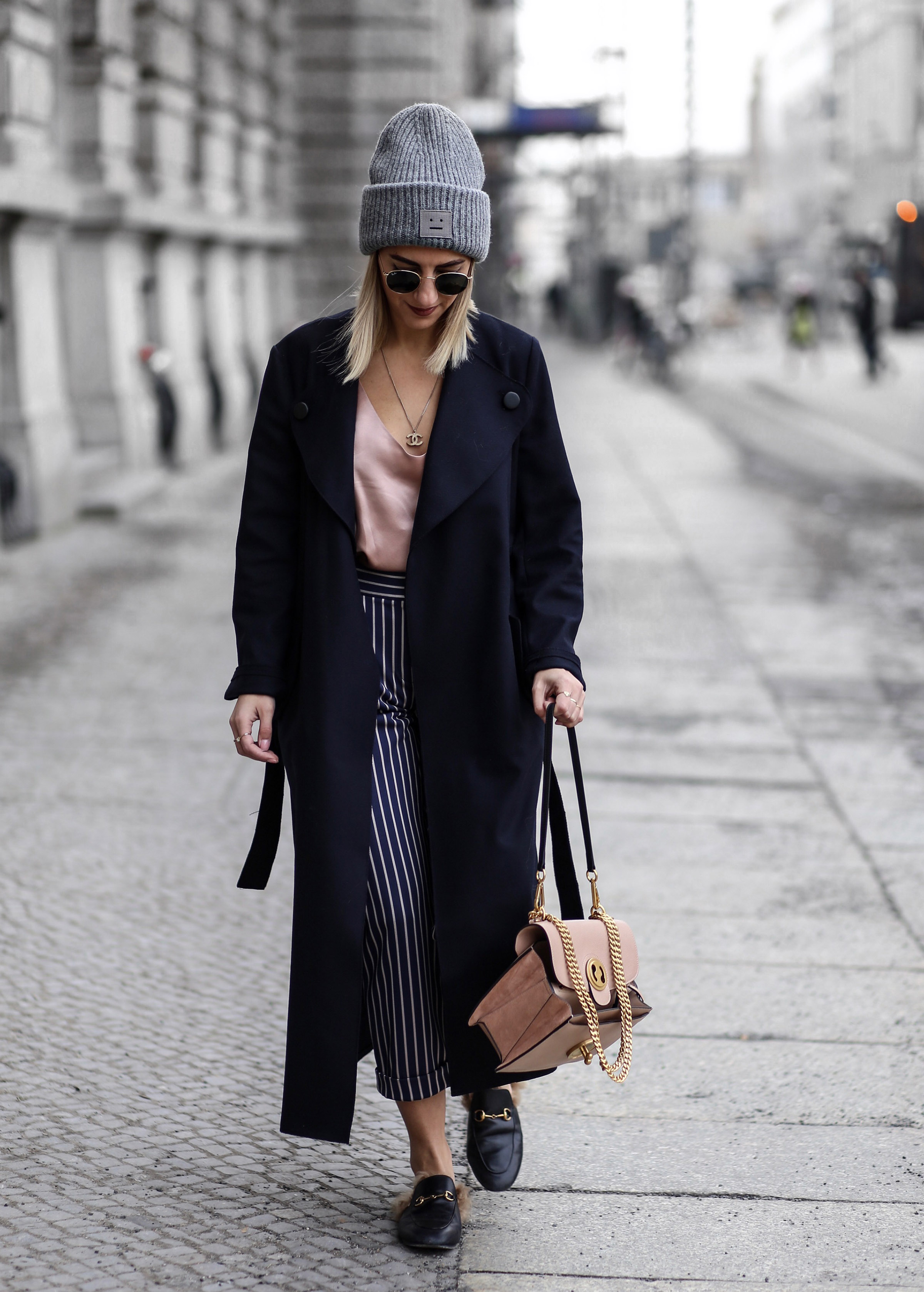 acne_beanie_grey street_style_belrin_fashion_week chloé_bag_netaporter chanel_necklace aylin_koenig_fashion_blog gucci_princetown_loafer_black ...