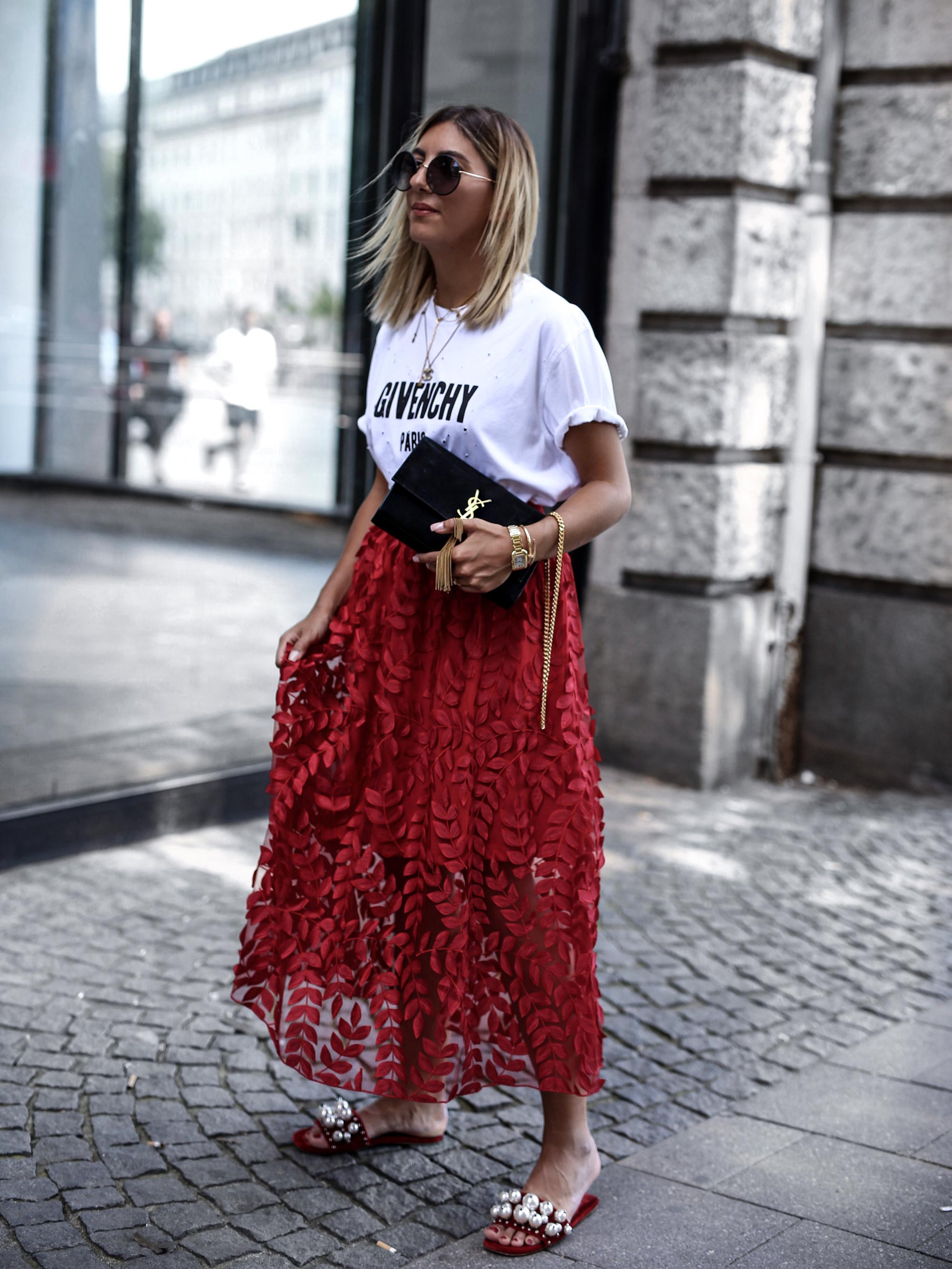 H&M_Trend_skirt_red