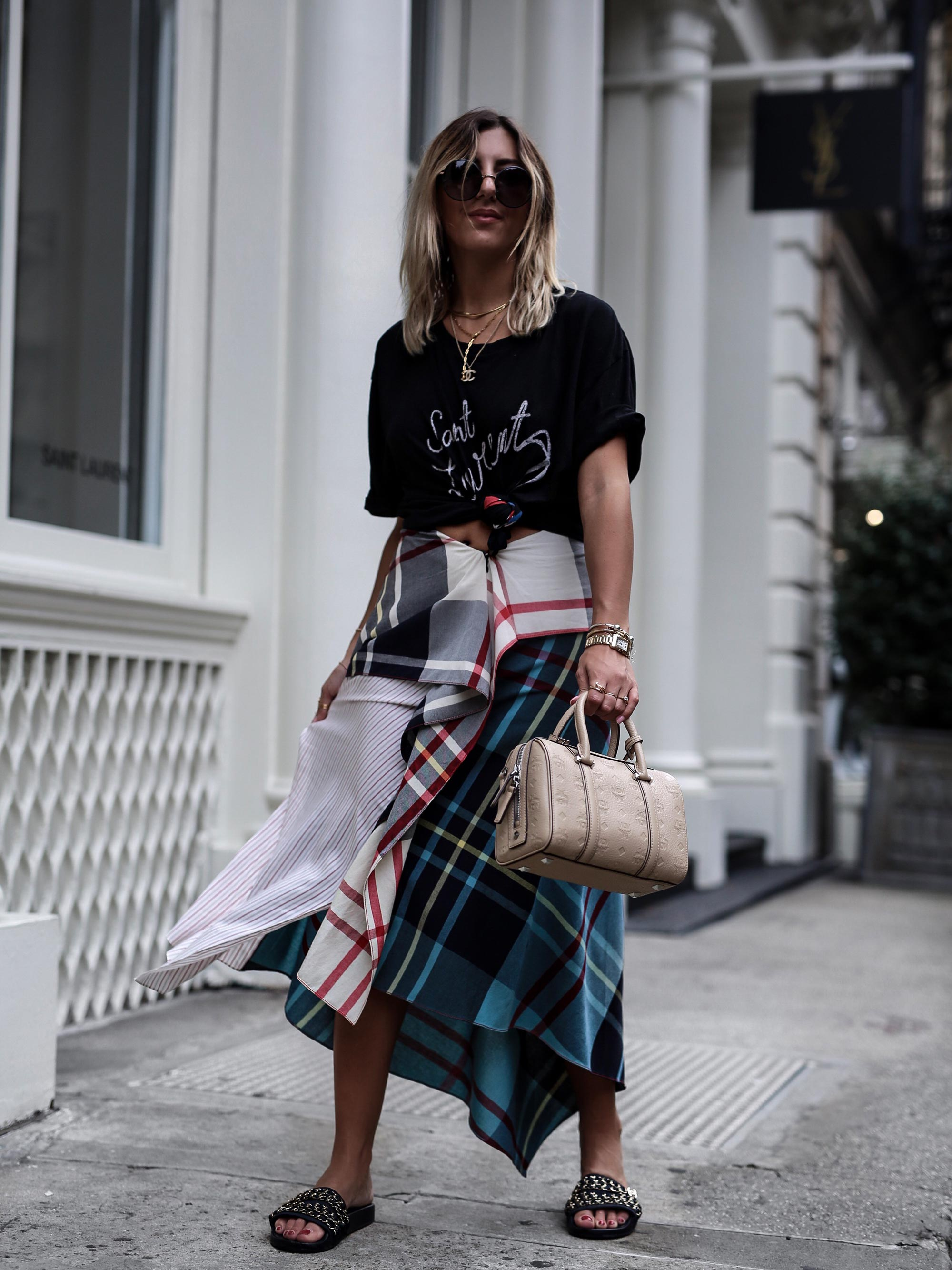Jwanderson_skirt_saint_laurent_shirt_mcm_bag